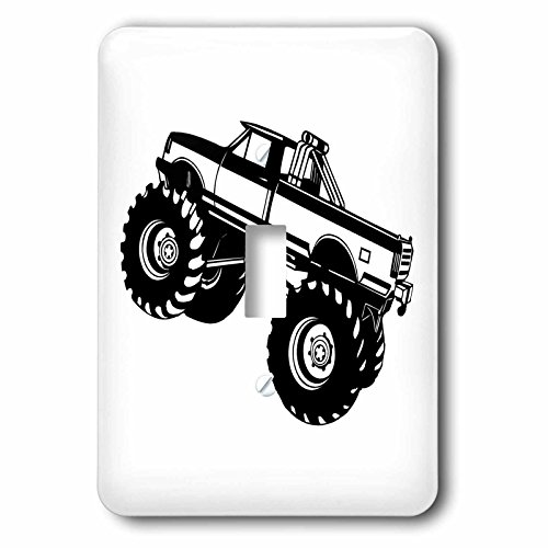 EvaDane - Signs - Monster Truck - Light Switch Covers - single toggle switch (Monster Truck Light Switch Plates)