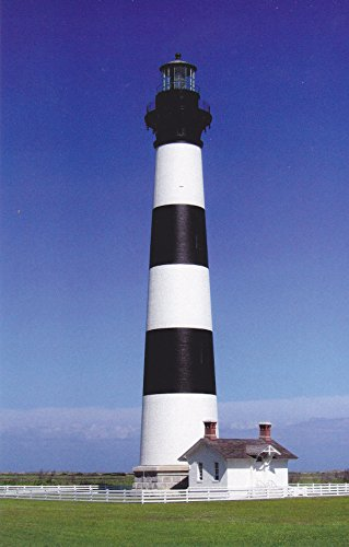 (LIGHTHOUSES02 - BODIE ISLAND LIGHTHOUSE NAGS HEAD, NORTH CAROLINA - - Another Beautiful LIGHTHOUSE POSTCARD from HibiscusExpress)