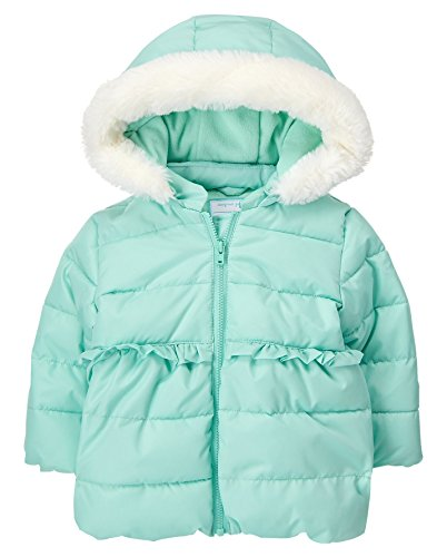 Gymboree Fur Eggshell Toddler Trim Blue Faux 2T Jacket with Girls' Hood gq6gxnZrUw