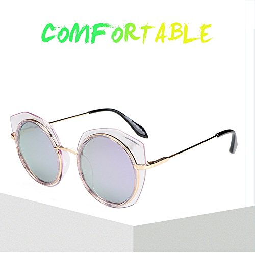 Green Sol Irregular Gafas Metal Mercury Black Color Frame Blue Fashion Bright Purple Gafas Sunshade Lovers Purple de Mercury F6WqgEg
