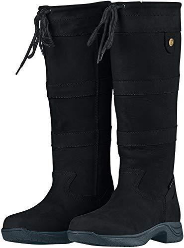 Dublin River Boots III Black Ladies 10 Xwide (Shops Dublin Three)