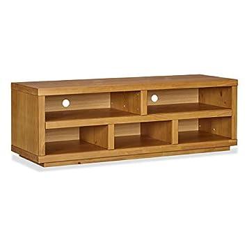 Amazon Com Musehomeinc Rustic Wood Tv Stand With 5 Storage Shelf