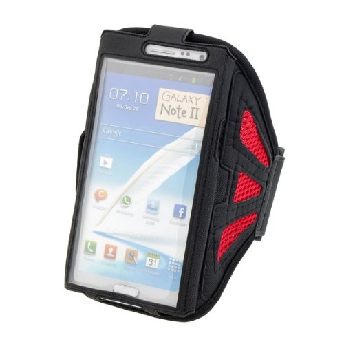 Black Mesh Sport Armband (Neewer Black Mesh Hole Running Jogging Sport Armband Case (Black and Red))