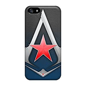 Case For HTC One M7 Cover PC Phone Case Cover(assassins Creed 3 Logo)