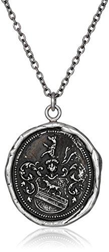 Pyrrha Talisman Men's Sterling Silver Heart Of The Wolf Pend...