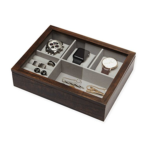 Compare price to personalized valet box for men for Men s jewelry box for watches and cufflinks