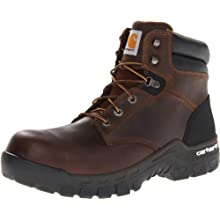 "Carhartt Men's 6"" Rugged Flex Waterproof Breathable Composite Toe Leather Work Boot CMF6366,Brown Oil Tanned Leather,12 W US"