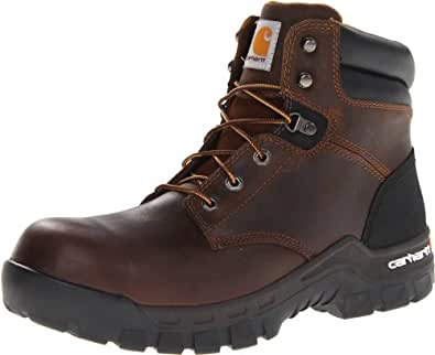 """Carhartt Men's 6"""" Rugged Flex Waterproof Breathable Composite Toe Leather Work Boot CMF6366,Brown Oil Tanned Leather,8 M US"""
