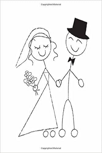 wedding journal bride groom stick figure sketch notebook diary