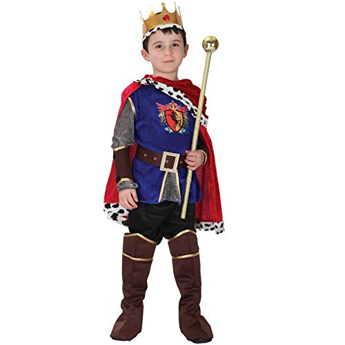 [Halloween Prince King Theme Role Play Party Cosplay Costumes For Child] (Mens Regal Pirate Captain Costumes)