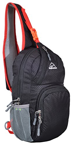 HOPSOOKEN Shoulder Sling Crossbody Bag Lightweight Waterproof Hiking Mens and Womens Travel Backpack Daypack