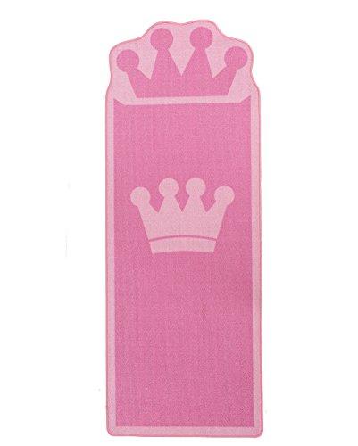 HUAHOO Pink Kids Rug for Bedroom Boys Girls Bedside Carpet Kids Runner Rugs Crown Style Children Carpet ❤️ Ideal Gift for Kids' Room Décor (26 x 71 inches) ()