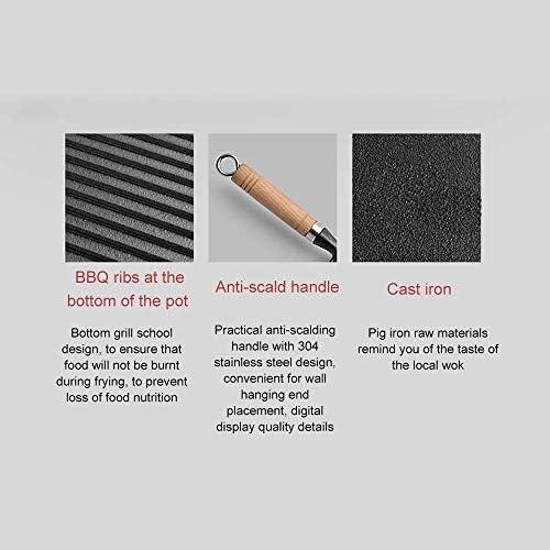 MissZZ Poêle à Induction ToxinFree en Fonte Saine Ustensile en métal antiadhésif/Induction/Lave-Vaisselle/Four Poêle à Frire sûre-22cm et poignées résistantes à la Chaleur