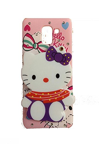 timeless design e1cb9 f47c5 Aarnik Makeup Mirror Soft Kitty with Diamond Stone Work Back Case Cover for  Samsung Galaxy J6 2018 (Colours May Vary)