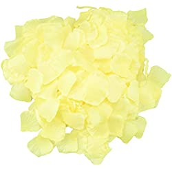 SunshineTrees 1000pcs Artificial Petals Silk Rose Petals Flower Wedding Decoration Favors (Yellow)