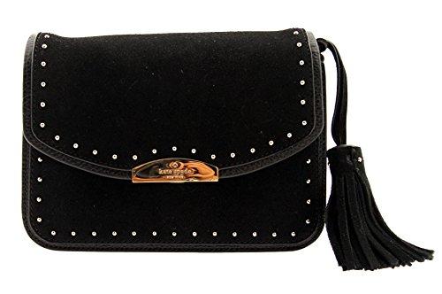 Kate Spade New York West Street Kenway Suede Stud Tassel Shoulder Mini Bag (Black) by Kate Spade New York