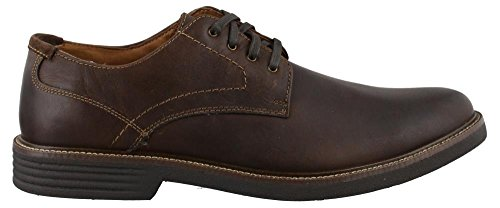 Dockers Mens Parkway Leather Dress Casual Oxford Shoe with NeverWet, Dark Brown, 12 W