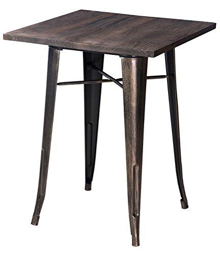 merax antique style rectangular dining table black antique black