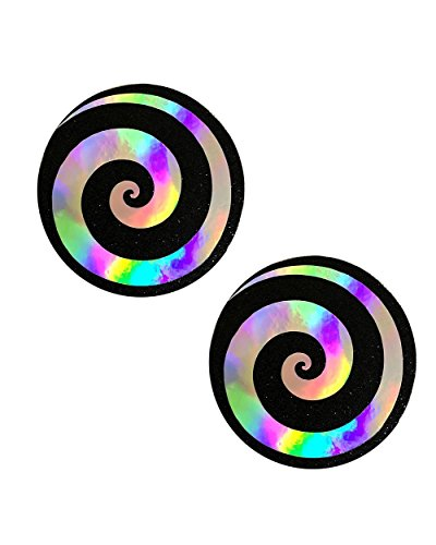 iHeartRaves Spiral Hologram Rave Pasties (Set of 2 Pasties)