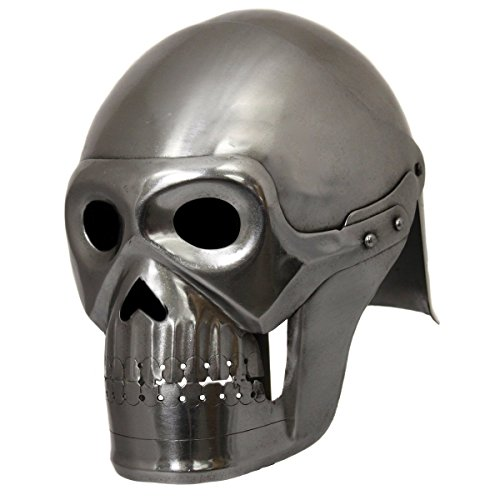 Handcrafted Fantasy Ghost Pirate Skeleton Battle Armor Helmet - Silver (Loki Helmet For Sale)