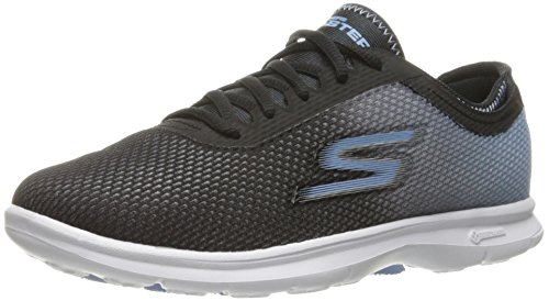 Skechers Go Step Prismatic Womens Fitnessschuhs - SS17 Black/Light Blue