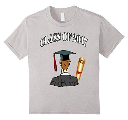 Kids Graduation Gift Ideas - CLASS OF 2017 Shirt 4 Silver (Toga Ideas)