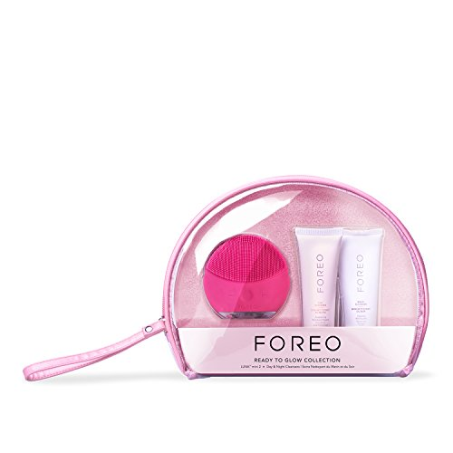 FOREO 'READY TO GLOW' Skin Care Gift Set (Includes LUNA mini 2 Facial Cleansing Brush + 60 ml Day and Night Cleansers) by FOREO (Image #1)
