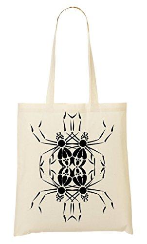 Abstract Spider Handbag Shopping Bag