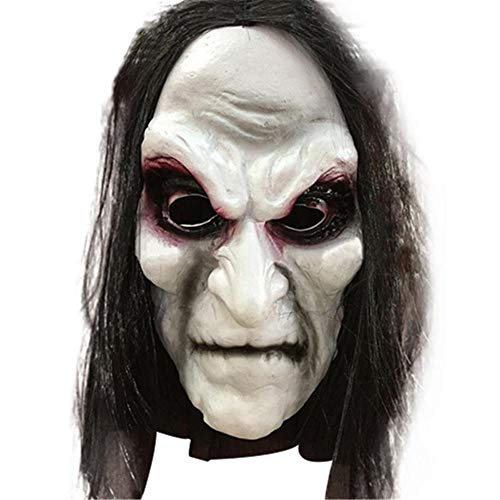 Halloween Zombie Mask Long Hair Ghost Scary Mask Props Grudge Ghost Hedging Zombie Mask Realistic Masquerade Halloween Mask