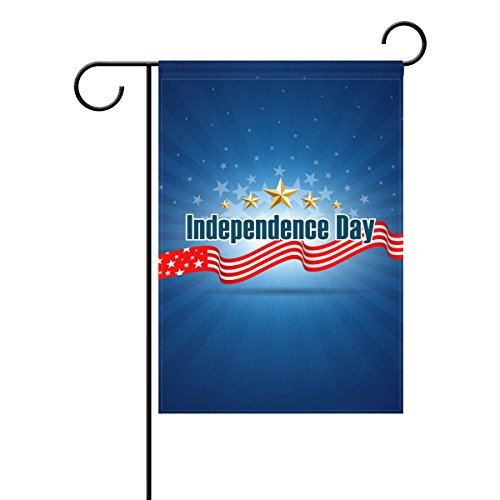 Home Polyester Fabric Garden Flags, Happy 4Th Of July Patriotic Independence Day Mildew Resistant Custom Waterproof Outdoor Flag,12