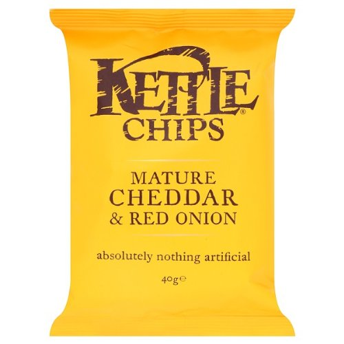 Kettle Chips Mature Cheddar & Red Onion 18 x 40gram