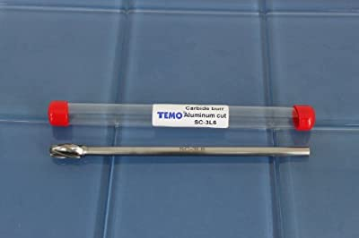 "TEMO SC-3L6 NFAluminum Cut 7"" L Carbide Burr File 1/4"" SHK 3/8"" HEAD Cylind Ball 1C2 from Golden Coulee"