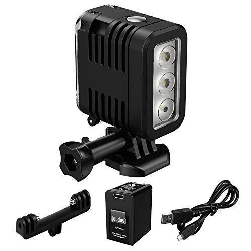 Underwater Lights Dive Light for Gopro 147ft(45m), Hongdak Diving Light High Power Dimmable Waterproof LED Video Fill Night Light for GoPro 8 7 6 5 5S 4 4S 3+/3/2 SJCAM/ Xiaoyi Action Cameras etc.