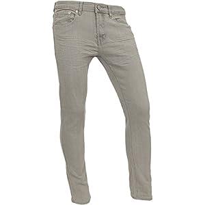 Mens Slim Fit Stretch Casual Tapered Spandex Premium Jeans