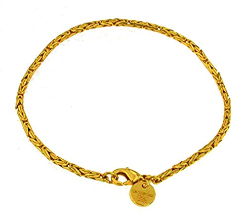 (Round Byzantine Chain Bracelet / Anklet, 18ct Gold Doublé, 3.5mm/0.14