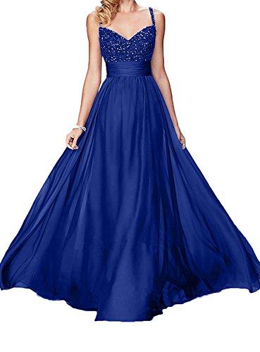 Elegant Schwarz Brautmutterkleider Royal Charmant Ballkleider Damen Langes Rock Abendkleider Blau Linie Spitze A Dunkel q65ZECZxw