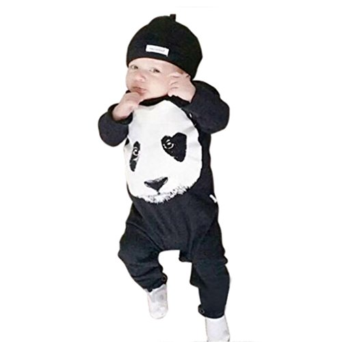 [Yoyorule Carters Baby Boy Rompers Panda Long Sleeve Climbing Clothes] (Panda Outfits For Babies)
