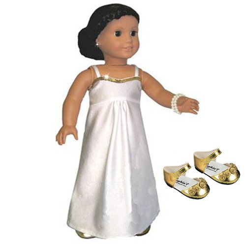 Gold Ankle Strap Dress Shoes Fits 18 inch American Girl Dolls