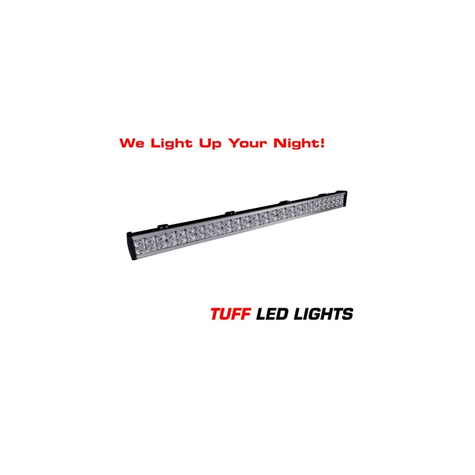 Tuff LED Lights Off Road 4x4 Jeep 40 Inch LED Light Bar 144 Watt 8000 Lumen UTV Polaris Ranger Yamaha Rhino Better Then Rigid E Series Truck SUV Tractor ATV Trailer Racing INCLUDES FREE UNIVERSAL WIREHARNESS WITH INLINE FUSE, RELAY, AND TUFF LED PILOT TO
