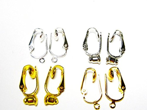 Clip on Earring Converter Kit-Change Pierced Earrings to Clip On Post and Dangle Styles