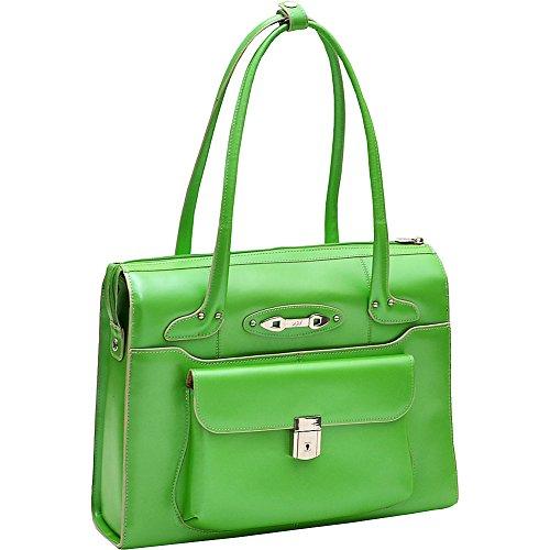 McKleinUSA WENONAH 96661 Green Leather Ladies' Briefcase