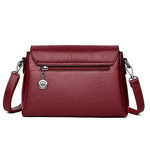 selvaggio a mano tracolla mobile Borse spalla messenger borsa semplici tracolla pelle blu in tendenza piccolo cuciture borsa zaino Purple a AgqYpAw