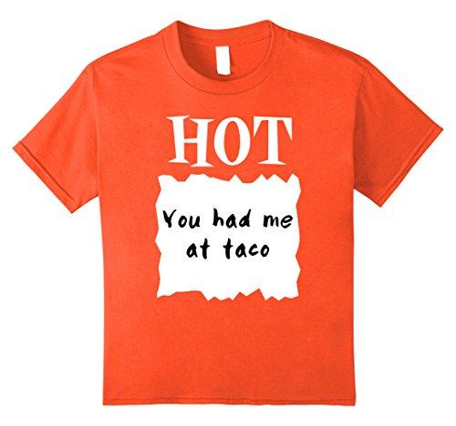Group Children's Costumes (Kids GROUP HALLOWEEN COSTUME T-shirt - HOT SAUCE PACKET Shirt 10 Orange)