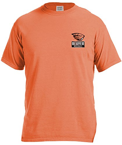 NCAA Oregon State Beavers Vintage Baseball Flag Comfort Color Short Sleeve T-Shirt, Large,BurntOrange