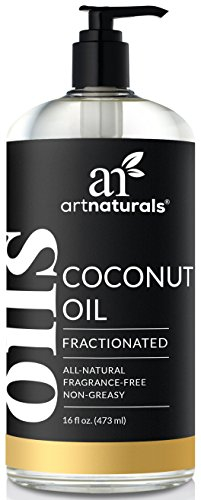 ArtNaturals Premium Fractionated Coconut Oil - (16 Fl Oz / 473ml) - 100% Natural & Pure - Therapeutic Grade Carrier and Massage and Body Oil - for Hair and Skin or Diluting Aromatherapy Essential Oils