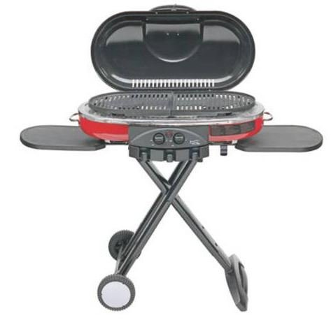 - Coleman RoadTrip LXE Portable 2-Burner Propane Grill - 20,000 BTU (RED)