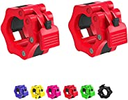 Bosco Olympic Weight Barbell Collars, One Pair 2 inch Bar Clips, Non-Slip Quick Release Bar Clamps for Fitness