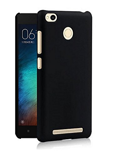 WOW-Imagine-Rubberised-Matte-Hard-Case-Back-Cover-For-XIAOMI-MI-REDMI-3S-PRIME-Pitch-Black