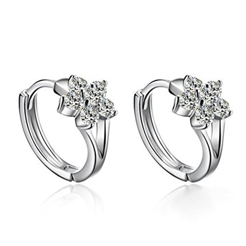 ER1210088C1 New Style Silver Japan And South Korea Plant Flowers Earring