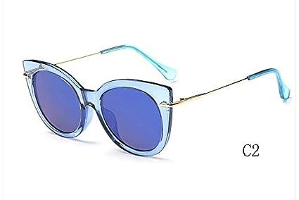 TL-Sunglasses Occhio di gatto occhiali da sole donne di sfumature a specchio occhiali da sole Occhiali da sole candy UV400,025 C6